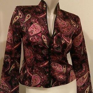 Colorful Mandarin neckline blazer